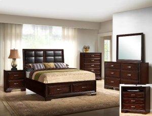 Jacob Queen Storage Bed Pu Headboar