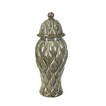 Decorative Ceramic Covered Jar, Brown