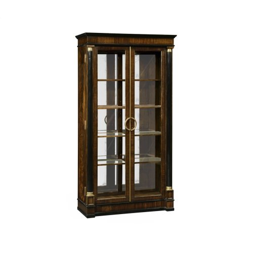 Regency Style Mahogany Display Cabinet