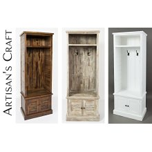 Artisan's Craft Hall Tree - Weathered White
