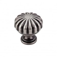 Melon Knob 1 1/4 Inch - Pewter Antique