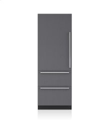 """30"""" Designer Over-and-Under Freezer with Ice Maker - Panel Ready"""