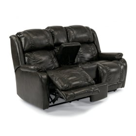 Marcus Fabric Power Reclining Loveseat with Console