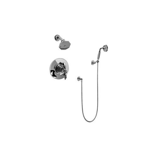 Topaz Pressure Balancing Shower System - Shower with Handshower