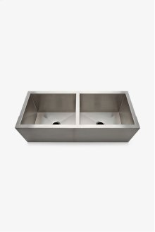 "Kerr 47 11/16"" x 21"" x 14 5/8"" Twin Stainless Steel Ranchhouse Apron Kitchen Sink with Center Drains STYLE: KRSK76"