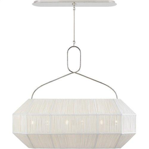 Visual Comfort KW5317PN-L Kelly Wearstler Forza 6 Light 40 inch Polished Nickel Linear Lantern Ceiling Light, Medium Gathered