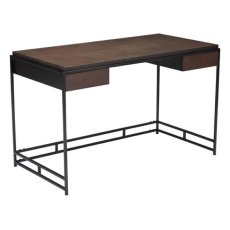 Studio Desk Espresso & Metal Product Image