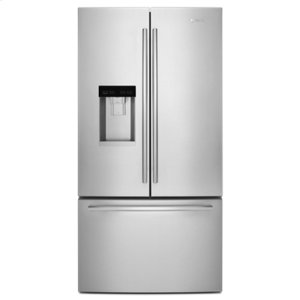 "Jenn-AirEuro-Style 72"" Counter-Depth French Door Refrigerator with Obsidian Interior"