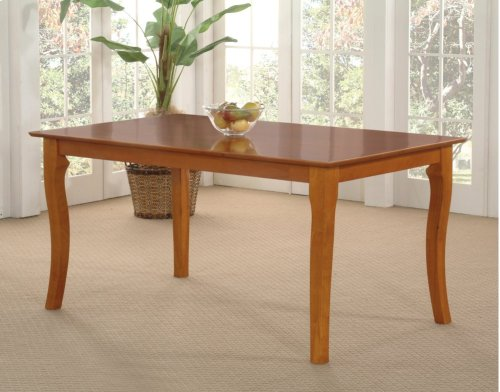 Venetian Dining Table 36x60 in Caramel Latte