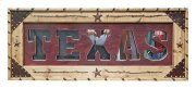 Red Texas Letter Mirror Product Image