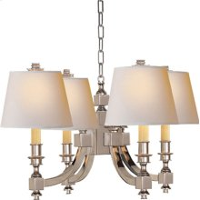Visual Comfort MS5020PN-NP Michael S Smith Eiffel 4 Light 22 inch Polished Nickel Chandelier Ceiling Light