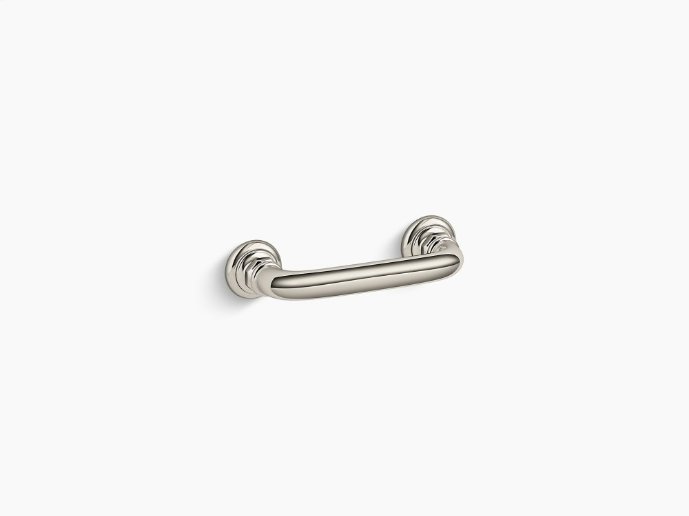 vibrant polished nickel drawer pull