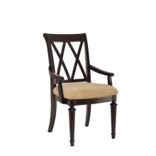 Camden Dark Splat Back Arm Chair