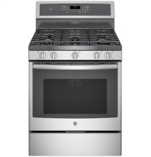 """GE Profile™ Series 30"""" Free-Standing Gas Convection Range"""