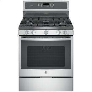 "GE ProfileGE Profile™ Series 30"" Free-Standing Gas Convection Range"