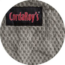 Cover for Pillow Pod or Footstool - Chenille - Charcoal