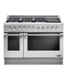 48' DCS range 6 burner with a grill, natural gas