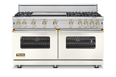 "60"" Custom Sealed Burner Range, Propane Gas, Brass Accent"
