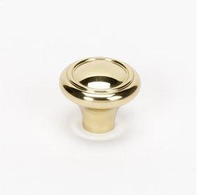 Classic Traditional Knob A1561 - Polished Brass