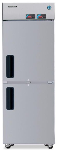 Dual Temp Cabinet, Single Section Upright, Half Stainless Door
