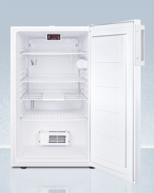 """20"""" Wide Counter Height All-refrigerator for Medical Use, With Digital Thermostat, Internal Fan, Lock, Temperature Alarm, and Hospital Grade Plug; Replaces Ff510lmed"""