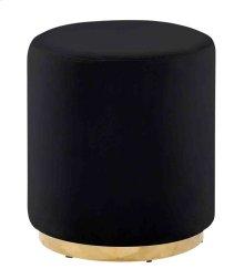 Black/gold Velveteen Stool