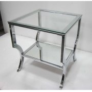 Contemporary Chrome Side Table Product Image