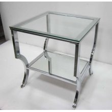 Contemporary Chrome Side Table