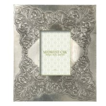 Antique Silver Oversized Stamped 5x7 Frame.