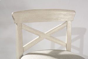 Bayview Wood X-back Non-swivel Bar Stool - White Wirebrush