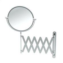 Accordion Mirror in Chrome