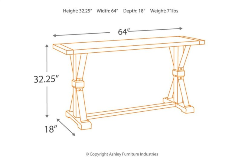 T0964 In By Ashley Furniture In Scottville Mi Sofa Table