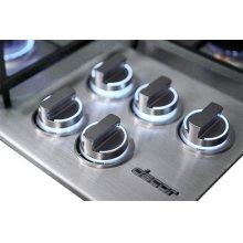 "Heritage 36"" Dual Gas Cooktop, Liquid Propane"