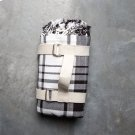 Picnic Throw with Carry Strap - Black Plaid Product Image