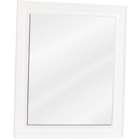 "20"" x 24"" Beveled glass mirror with White finish."