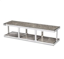 Soto Long Cocktail/ Media Shelf - Marble