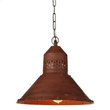 Vintage Copper Pendant. 60W Max. Plug-in with Hard Wire Kit Included.