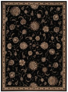 Serenade Srd02 Black Rectangle Rug 5'3'' X 7'5''