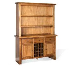 Carey Live Edge Buffet & Hutch