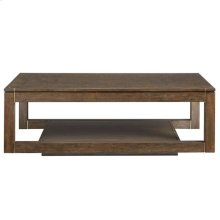 Panavista Floating Parsons Rectangular Cocktail Table in Quicksilver