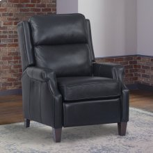 Dixon Navy Manual Pushback High Leg Recliner