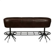 Ale House Bar Bench with Metal Base and Upholstered Seat Product Image