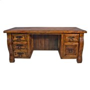Old Wood Desk W/ Double Drawers Product Image