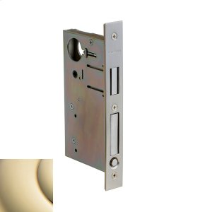 Lifetime Polished Brass 8632 Pocket Door Lock with Pull Product Image