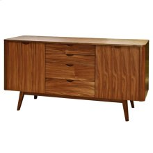 Milano Sideboard 4 Drawers + 2 Doors, Walnut