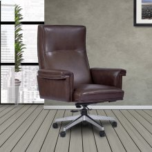 DC#119 Walnut Leather Desk Chair