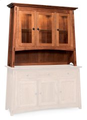 McCoy Open Hutch Top, Large, Antique Glass