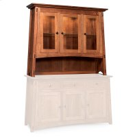 "McCoy Open Hutch Top, 56"", Antique Glass Product Image"