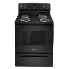 Amana® 30-inch Electric Range with Self-Clean Option - Black