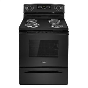Amana® 30-inch Electric Range with Self-Clean Option - Black - BLACK